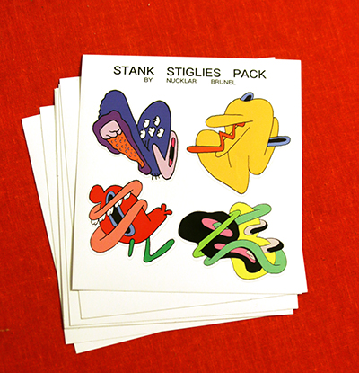Stank Stiglies Sticker Pack 1