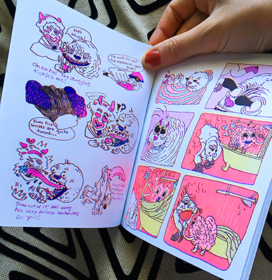Blueberry Kissies Comic Risograph